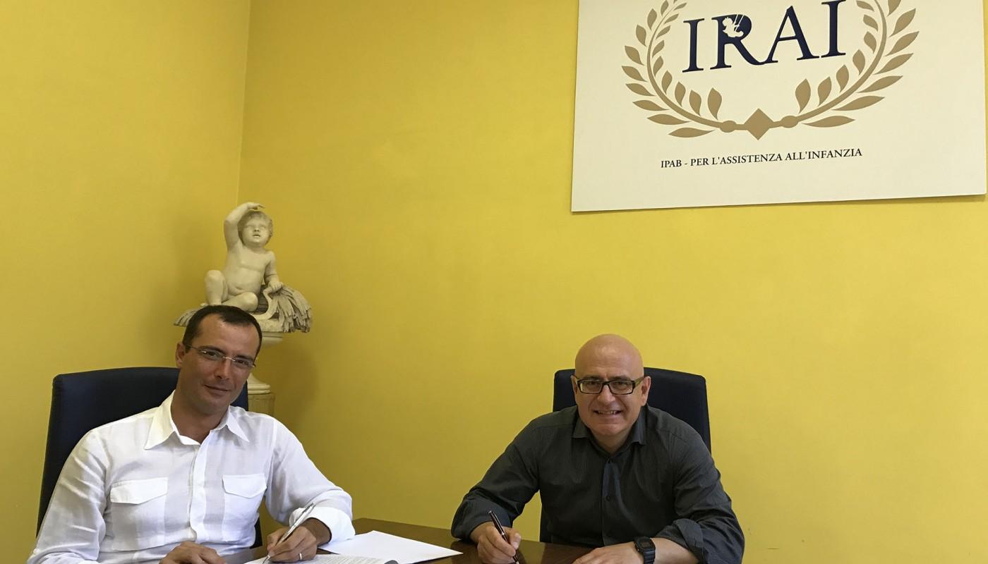 Siglata la convenzione tra Ipab IRAI e Istituto Romano di San Michele per la gestione condivisa dell'OIV